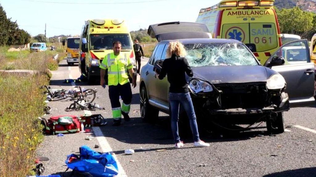 Prisión provisional y sin fianza para la mujer que atropelló a 9 ciclistas en Mallorca