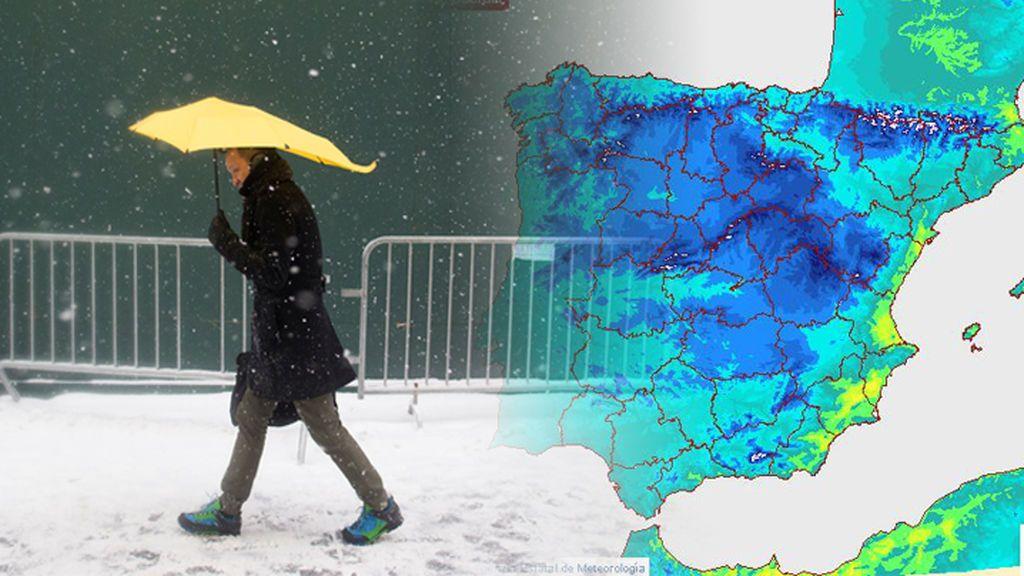 Aviso especial de la Aemet: bajón de temperaturas y nieve para este martes