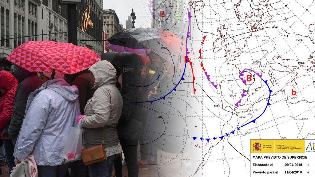 El núcleo de la borrasca se situará sobre el centro de Cataluña: las consecuencias del temporal