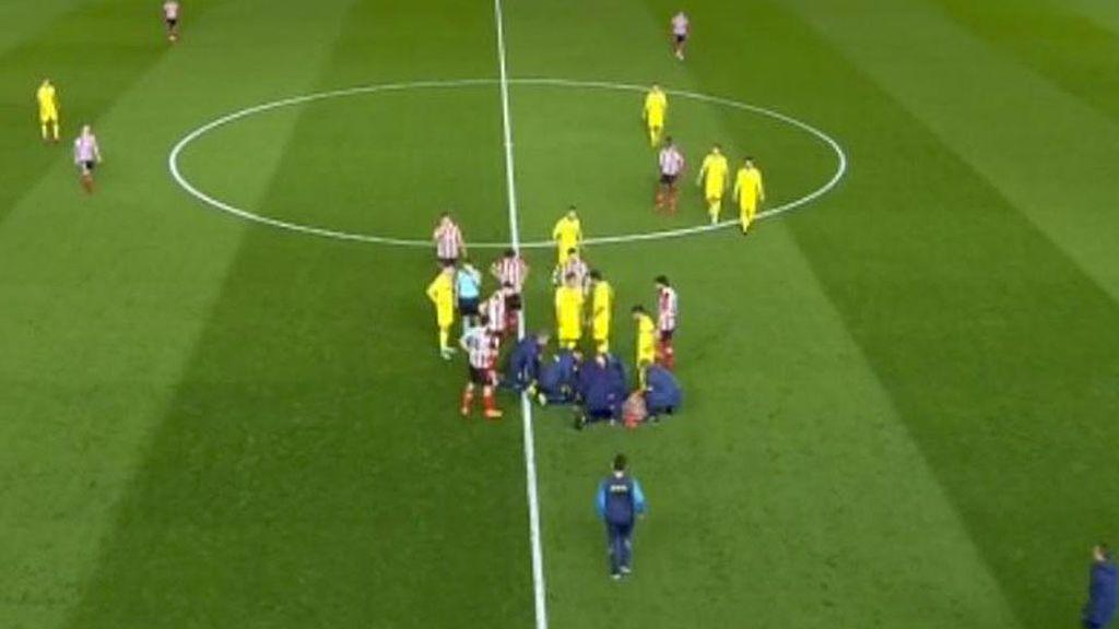 Pablo Fornals se desploma durante el Villarreal - Athletic en el estadio de La Cerámica