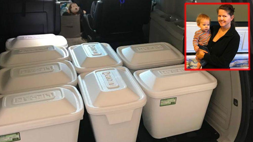 Una madre dona 52 litros de leche materna suficientes para alimentar a 2.000 bebés