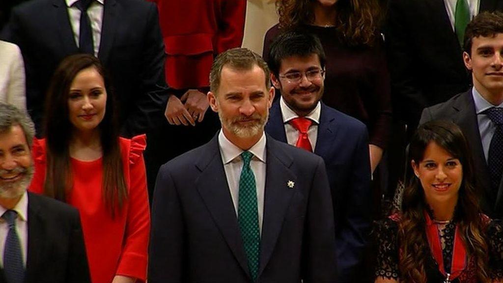 El Rey respalda a los jueces en Barcelona