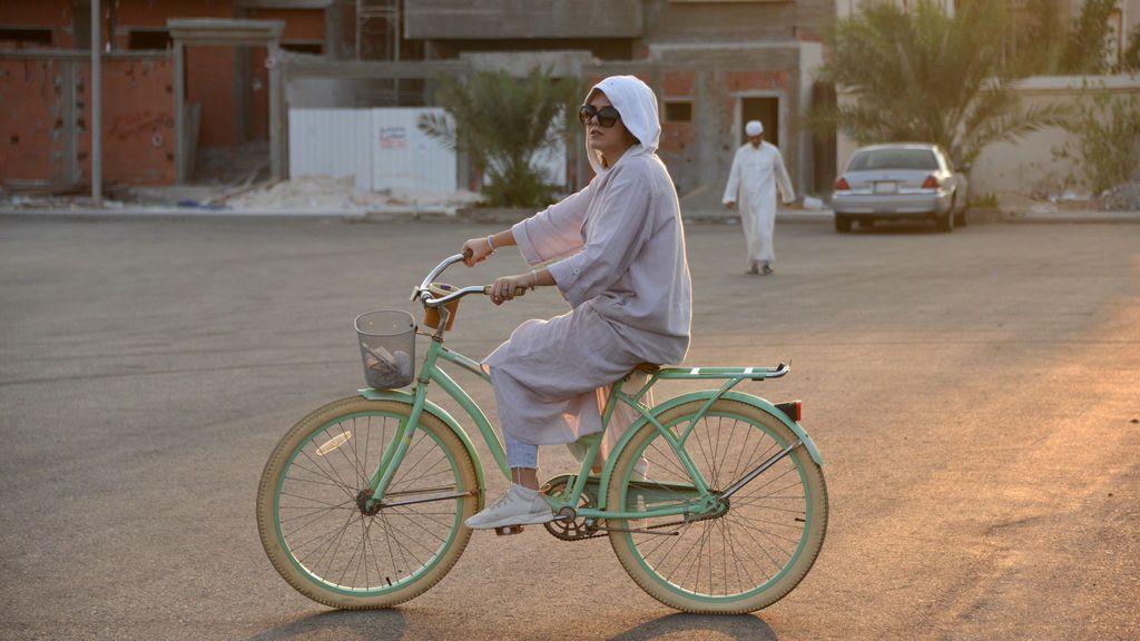 Traslado en bicicleta en Arabia Saudí
