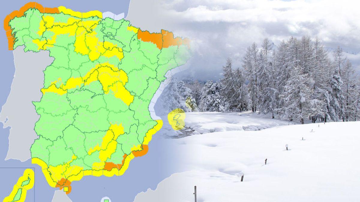 Precaución: vuelve a nevar este martes, pudiendo provocar la mayor nevada de la temporada