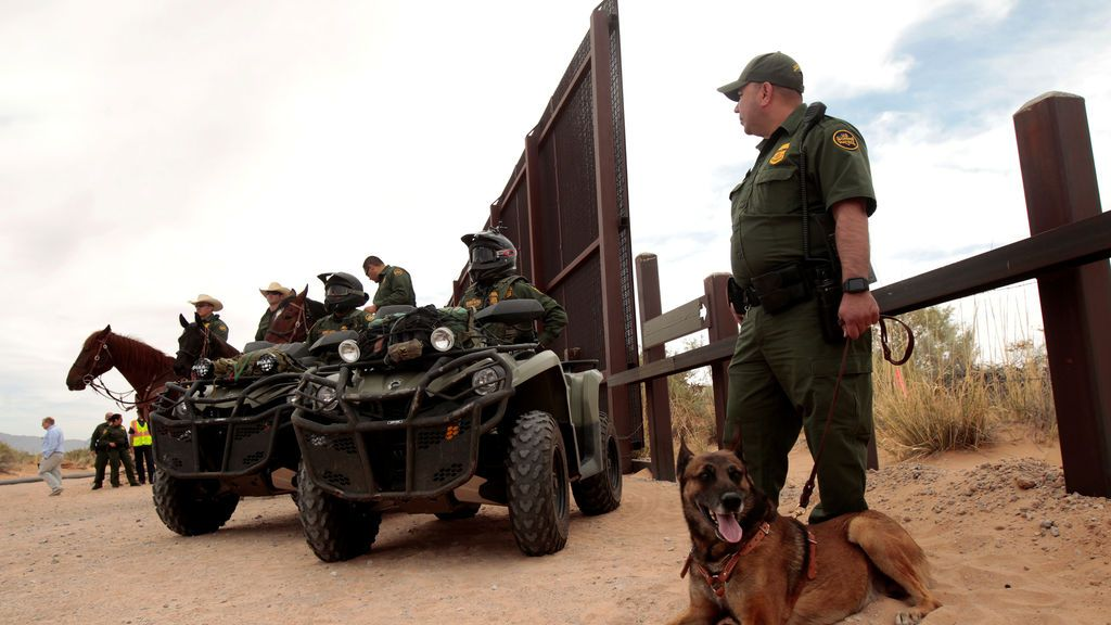 Vigilancia para levantar el muro fronterizo