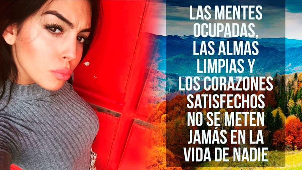 """""""Los corazones satisfechos no se meten en la vida de nadie"""", la respuesta de Georgina Rodriguez ante las críticas de los vecinos de Jaca"""
