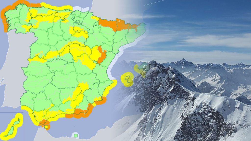 ¡Primavera invernal! 43 provincias en aviso por lluvia, viento, nieve y olas