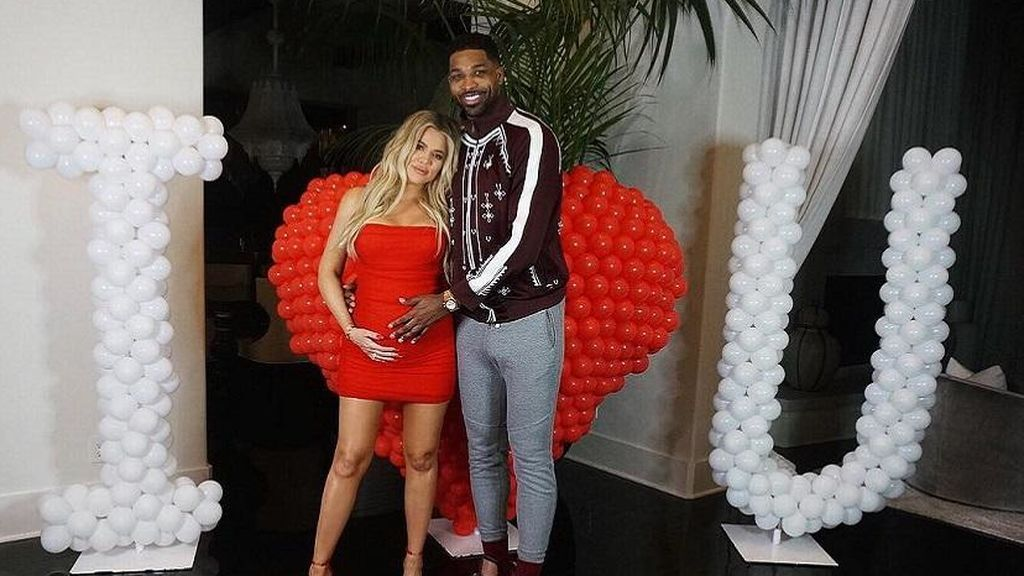 Khloé Kardashian y Tristan Thompson, en la celebración de San Valentín 2018.