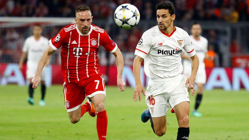 El Sevilla empata ante el Bayern y cae eliminado en cuartos de la Champions