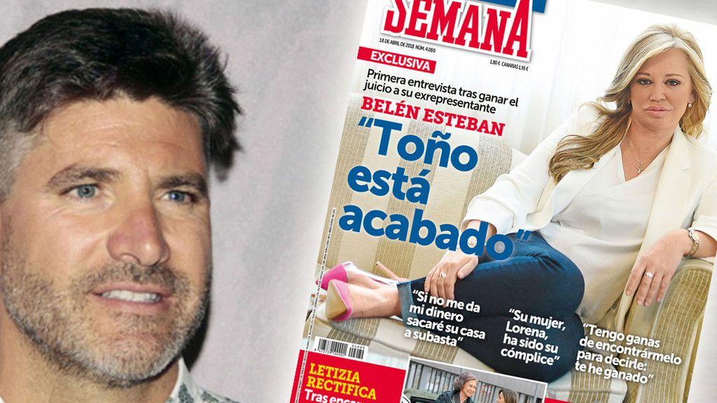 """Primera reacción de Toño Sanchís tras la portada de Belén: """"Ni idea, no he visto nada"""""""