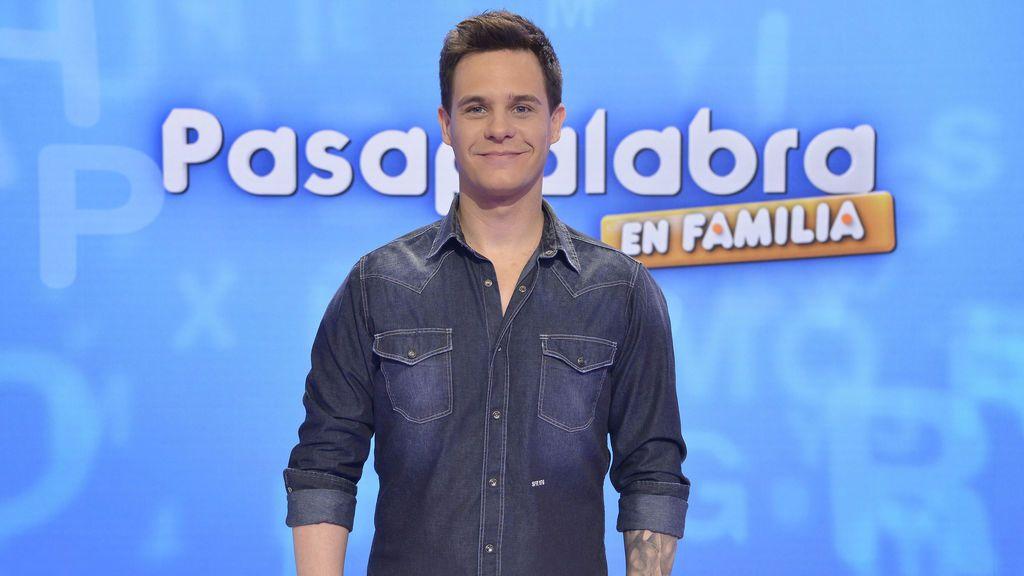 Christian Gálvez, en el plató de 'Pasapalabra en familia'.