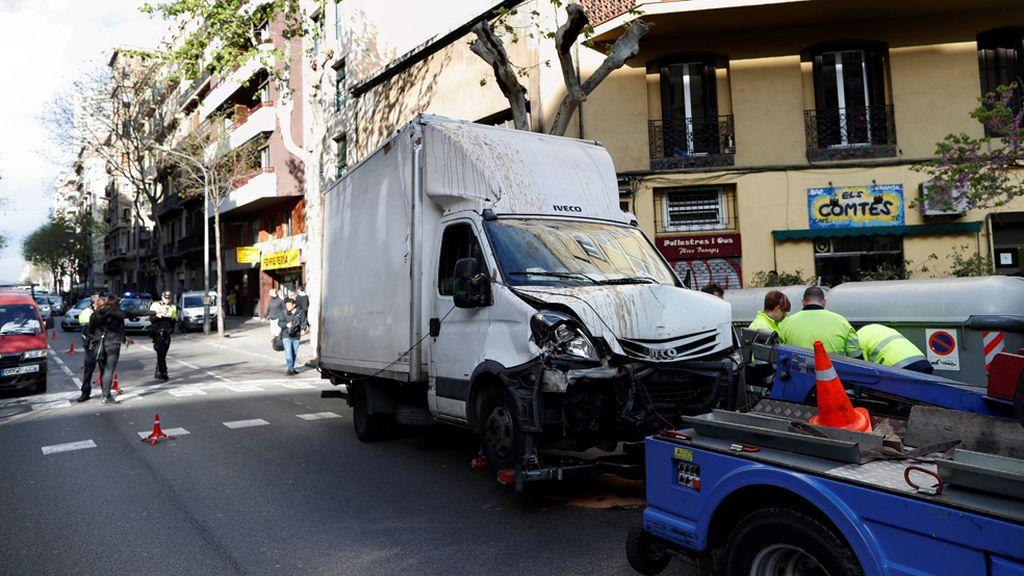 """Un camión atropella a siete personas en el centro de Barcelona por un """"accidente"""""""