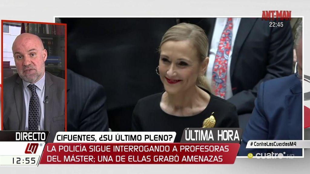 """Ignacio González Vega, si se confirman los delitos: """"Son penas importantes que pueden comportar el ingreso en prisión de hasta seis años"""""""