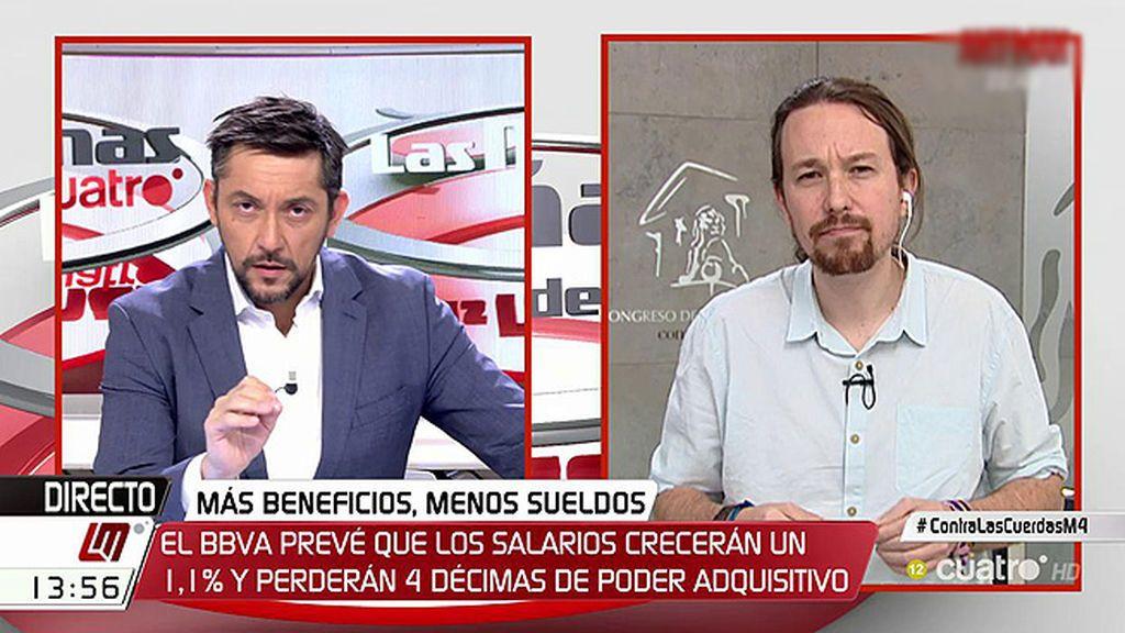 """Iglesias: """"La corrupción tiene dos responsables: los corruptos que son de azul y los amigos que les protegen, C's"""""""