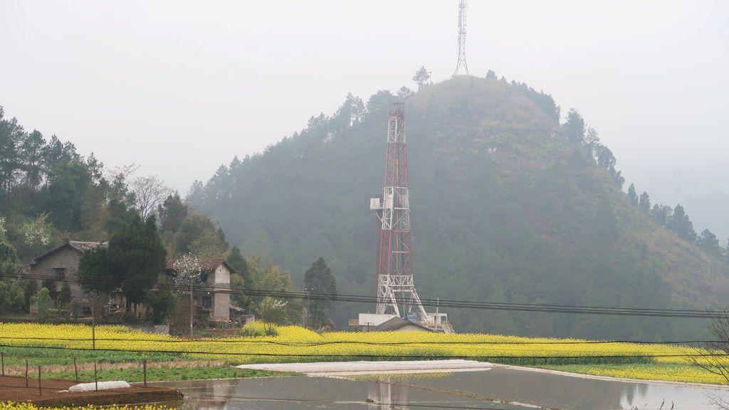 Plataforma de gas en China