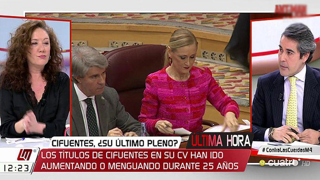 """I. García Juez: """"Sobre su futuro, Cifuentes dice que es una negociación entre el presidente del Gobierno y ella"""""""