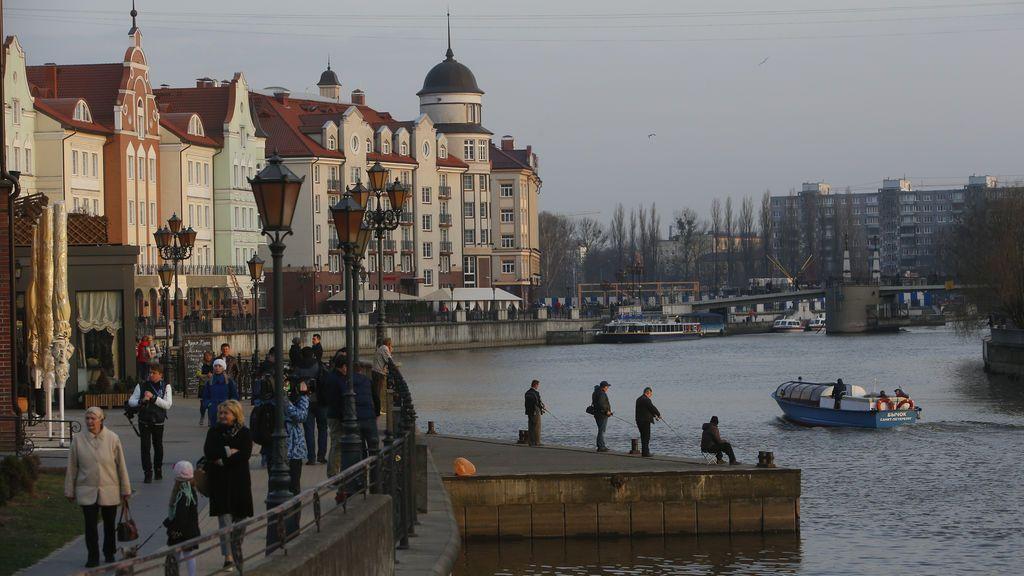 Vista de un día cotidiano en Kaliningrado