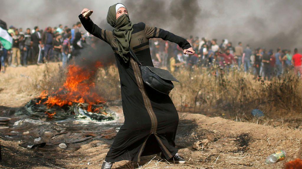 Enfrentamiento entre palestinos e israelíes