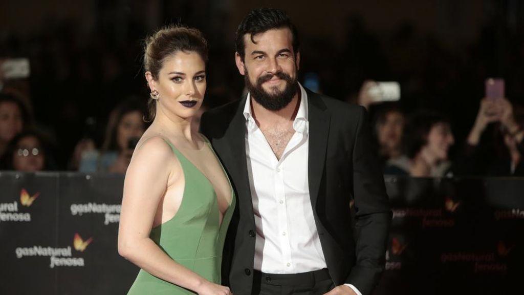 Blanca Suárez y Mario Casas, en la presentación de la película 'El bar' en el Festival de Málaga 2017.