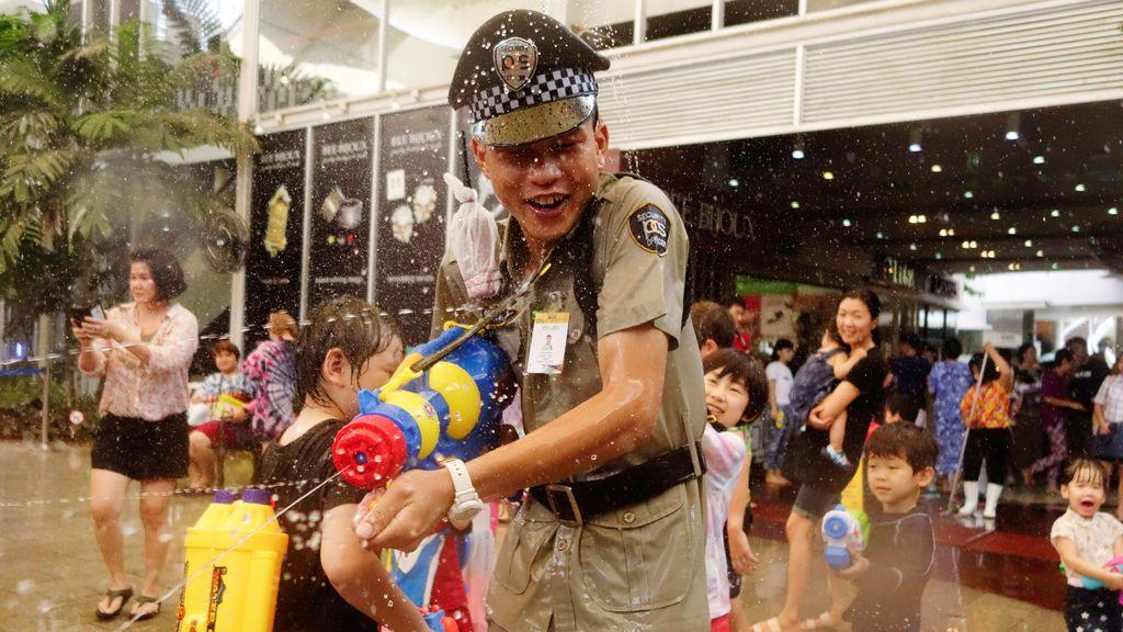Peleas de agua en Tailandia