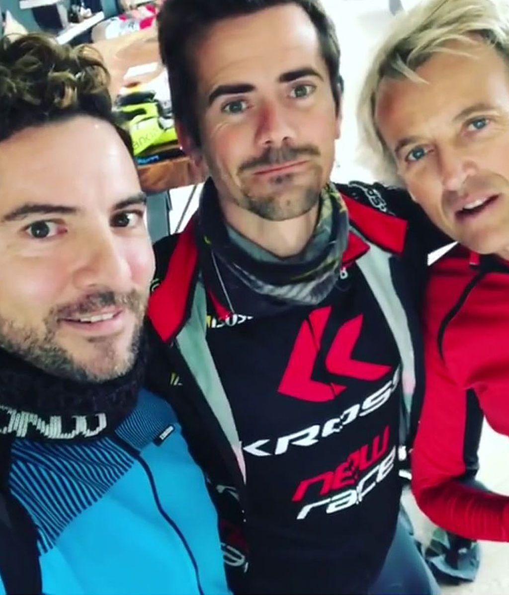 Jesús Calleja celebra su cumpleaños de la mejor forma: ¡En bici junto a Bisbal y Nico Terol!