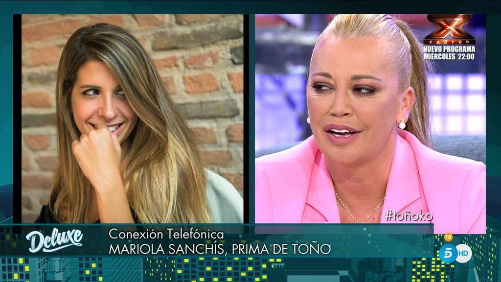 """Mariola Sanchís da la espalda a su primo de Toño, en directo: """"Me alegro por ti, Belén"""""""