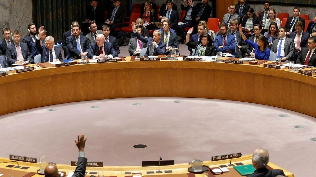 El Consejo de Seguridad no condena los bombardeos contra Siria