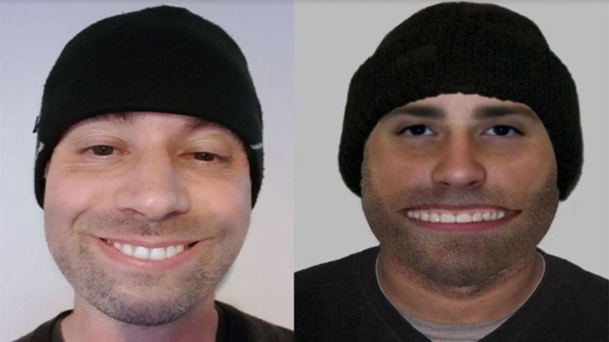retrato robot parecido hombre dientes sonrisa