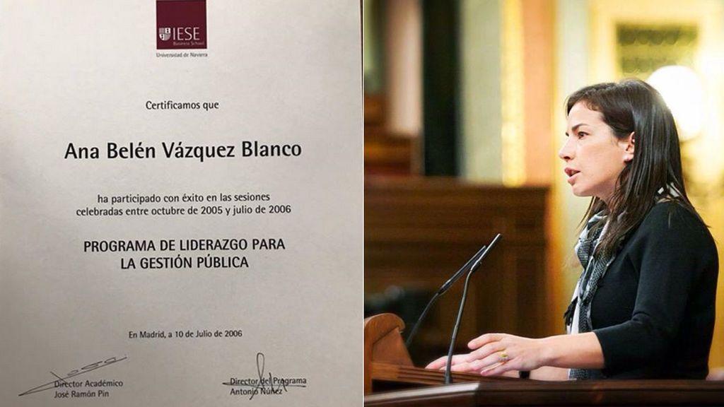 El PP retira un máster del currículo de una diputada por Ourense en el Congreso