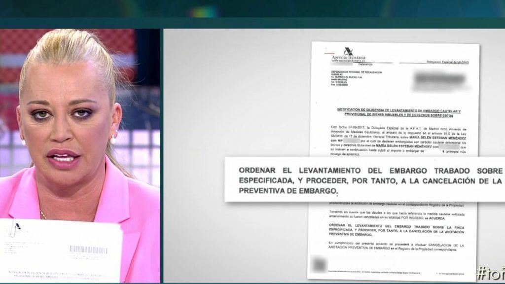 """Belén se dirige a Toño: """"He pagado a Hacienda, ahora haz tú lo mismo"""""""