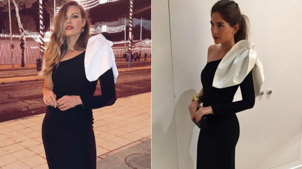 ¿Quién lo lleva mejor? Lourdes Montes y Jessica Bueno, idéntico vestido en la Feria de Abril
