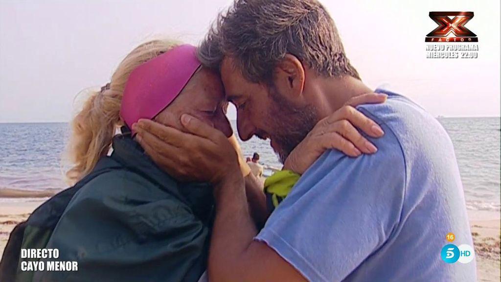 """Mayte sorprende a Fernando y se origina una despedida muy cariñosa: """"Tienes que seguir dando ejemplo"""""""