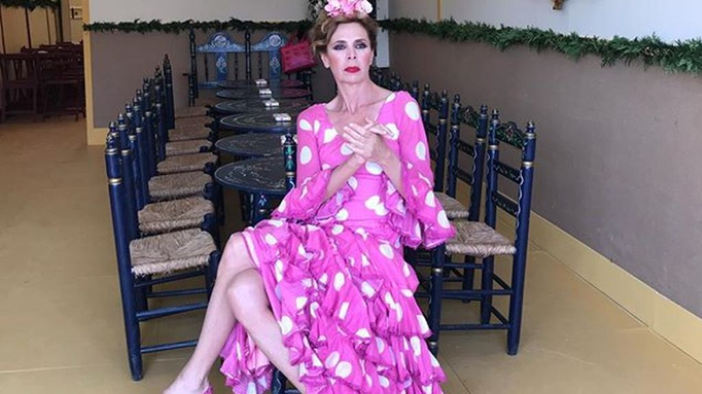 Ágatha Ruiz de la Prada no fue vestida de sí misma: llevó un traje de su amiga Lourdes Montes