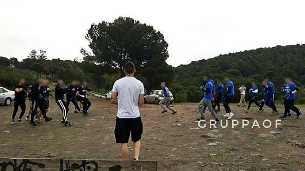 La vergonzosa pelea de los Ultra Sur con radicales del Málaga en un descampado en la previa del partido del Real Madrid