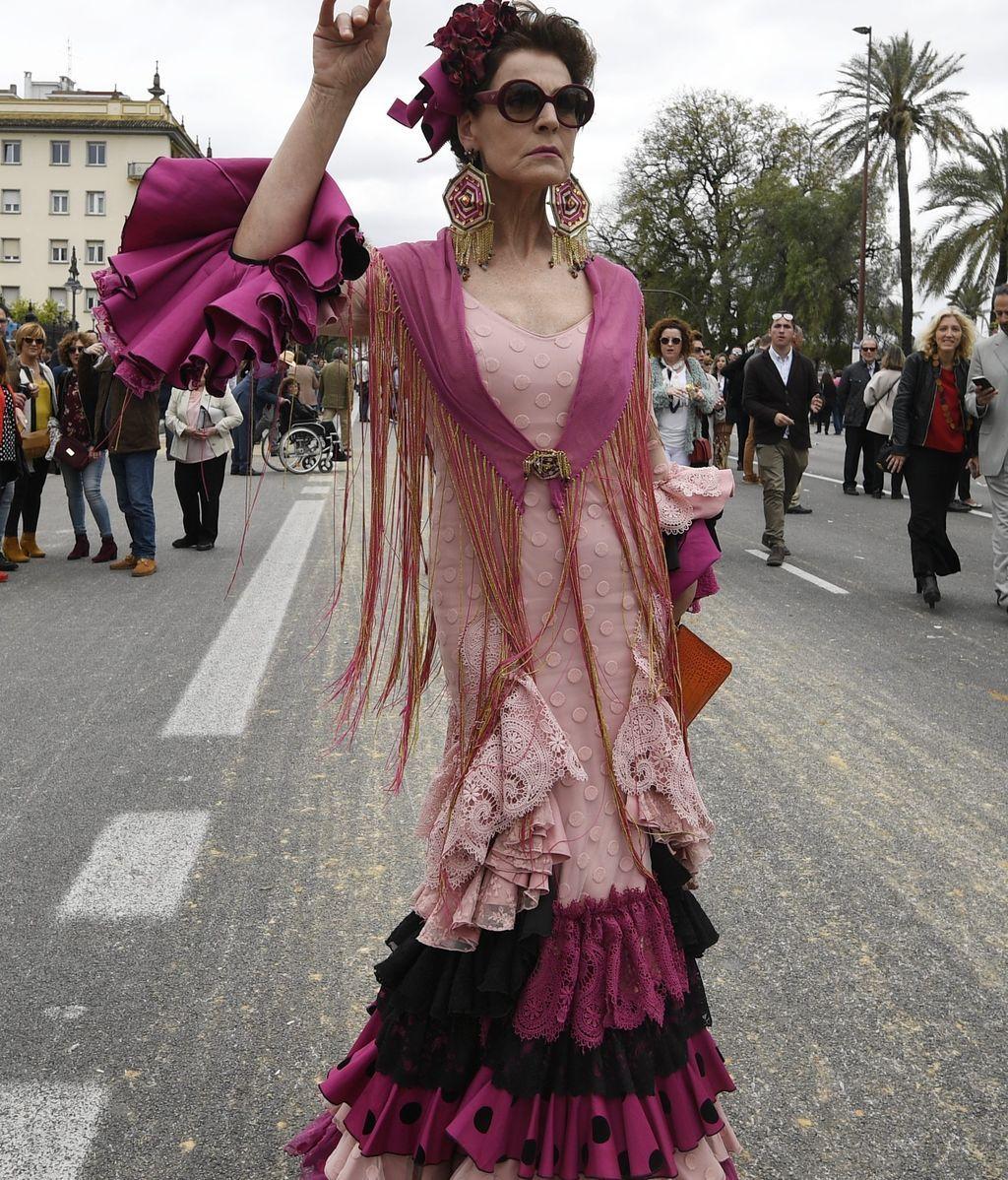 Antonia Dell'Atte también pasó el fin de semana en Sevilla