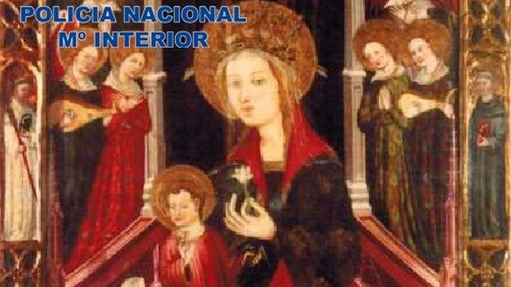 Recuperan un óleo sobre tabla del siglo XIV robado y valorado en 180.000 euros