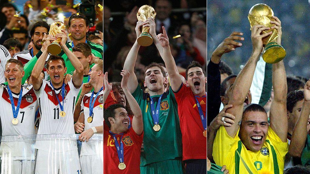 Palmarés de los Mundiales: Siete selecciones se reparten todos los títulos