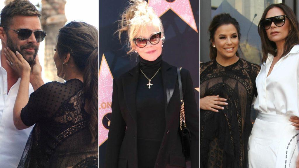Melanie Griffith, Vicky Beckham, Ricky Martin... Eva Longoria, una premamá con estrella rodeada de amigos