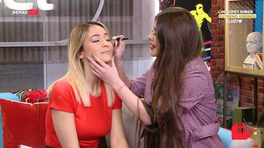 'La Rebe' maquilla a Maria Verdoy