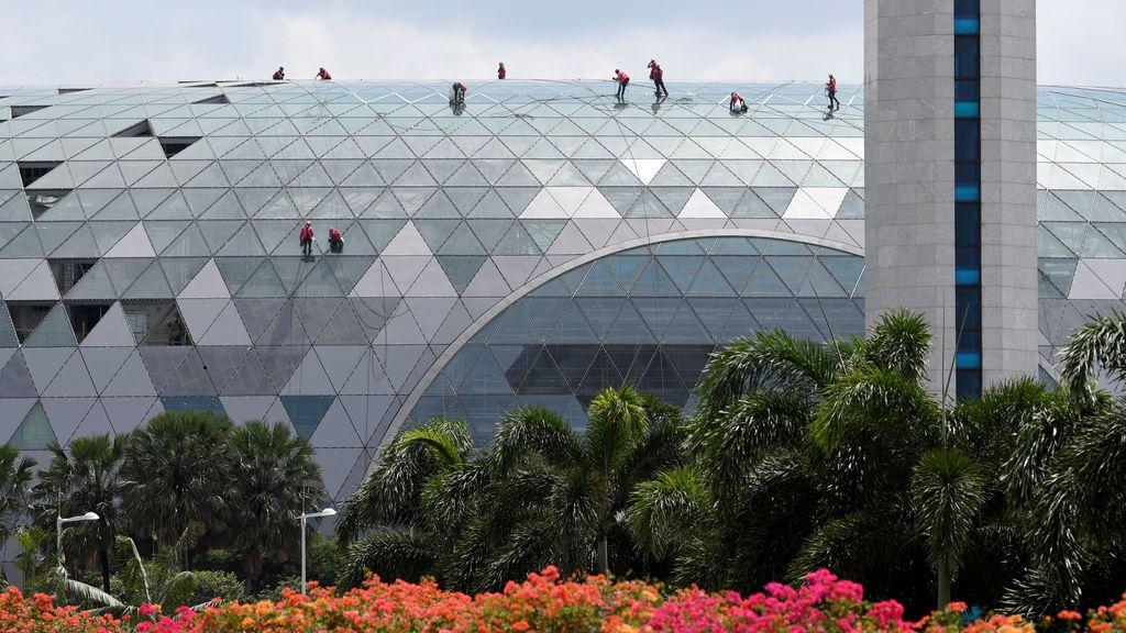 Fachada del aeropuerto de Singapur