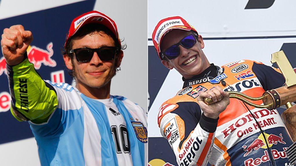 De la Argentina de Rossi, a la América de Márquez: así vivirán su reencuentro los dos pilotos tras su última 'guerra'