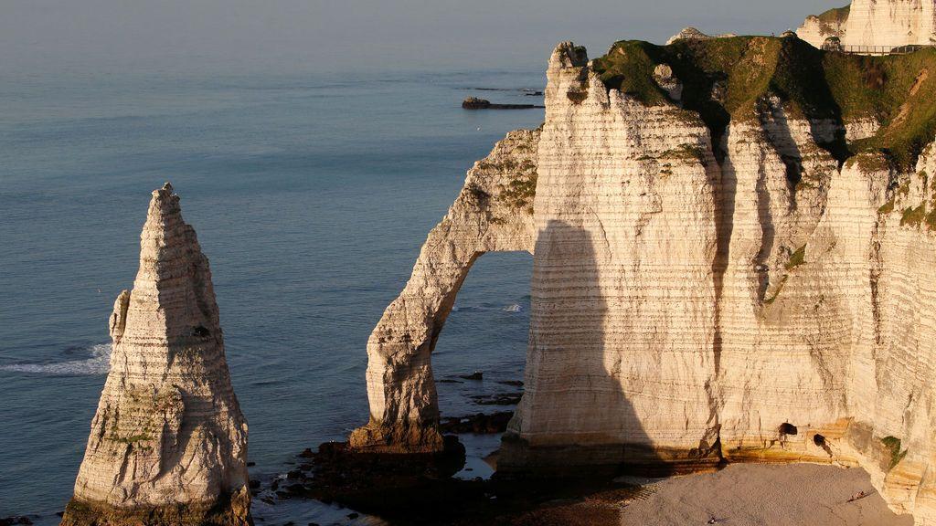 Atardecer en la costa francesa
