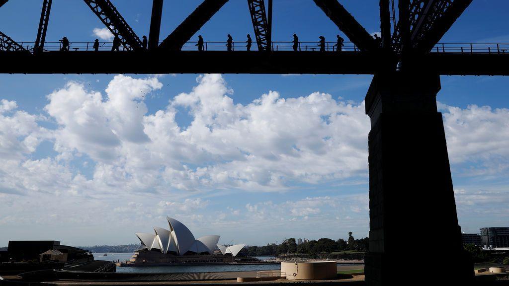 Cruce del puente australiano de Harbor