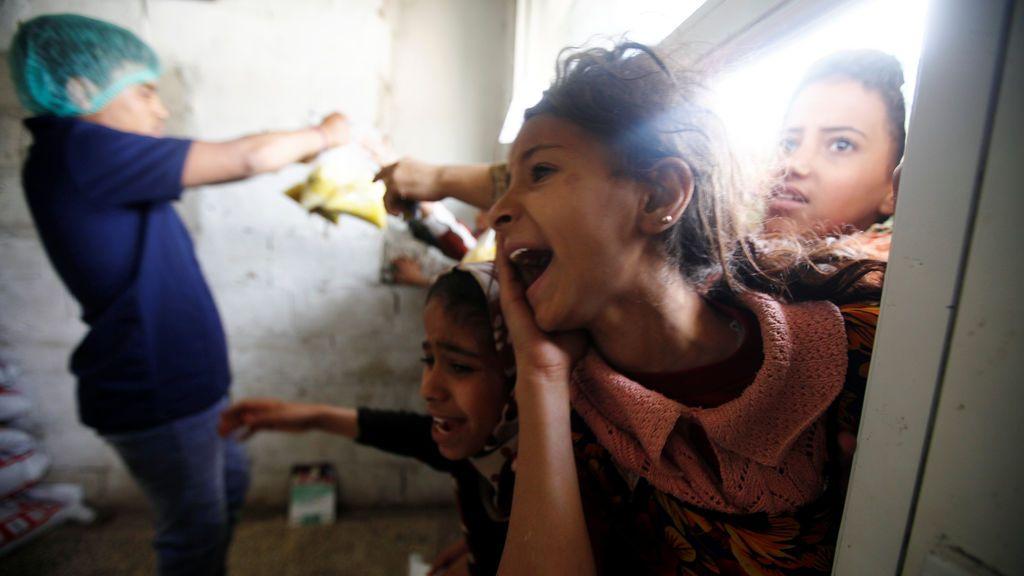 Petición desesperada de comida en Siria