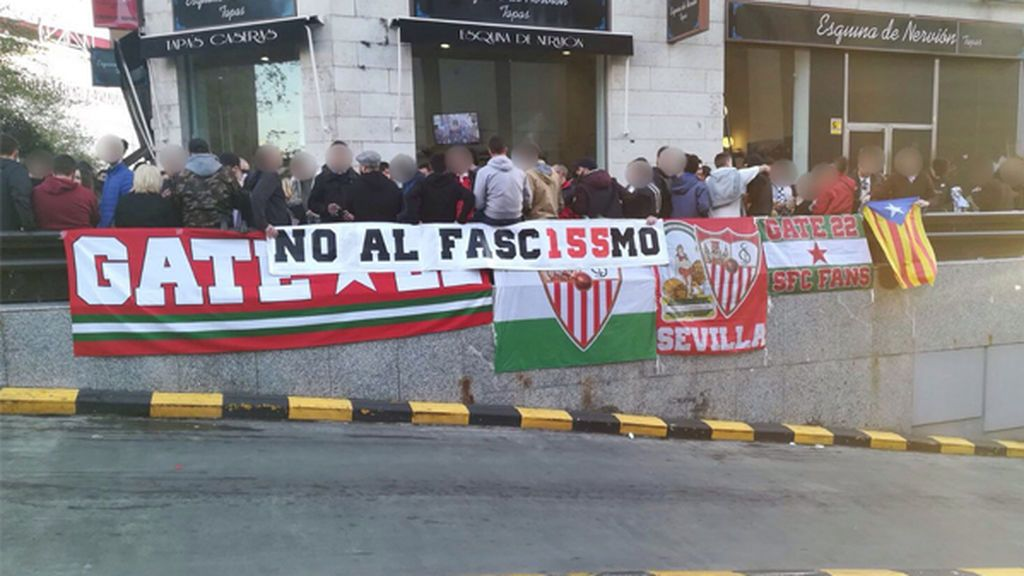 Un grupo minoritario del Sevilla se puede unir a las protestas independentistas catalanas en la final de la Copa del Rey