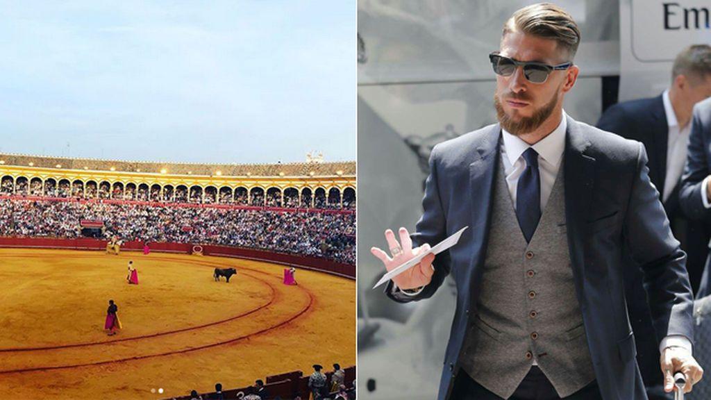 Feria y amigos, toros y un encuentro inesperado: así fue la tarde de fiesta de Sergio Ramos en Sevilla