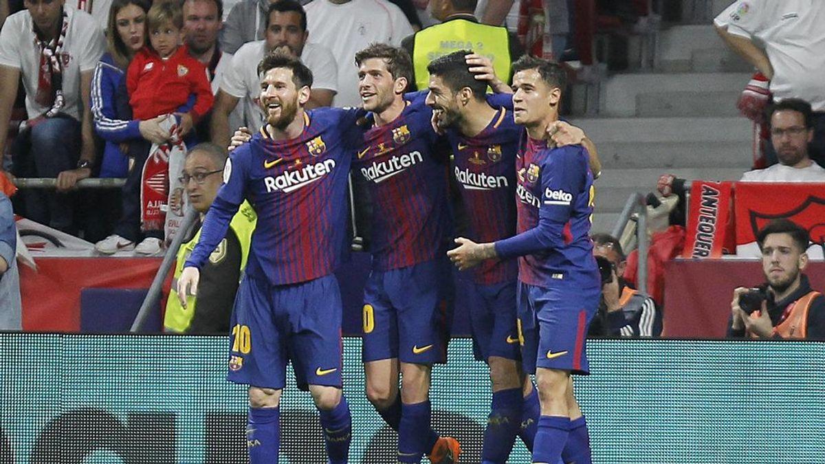 El Barcelona pasa por encima del Sevilla y se lleva la Copa del Rey (5-0)