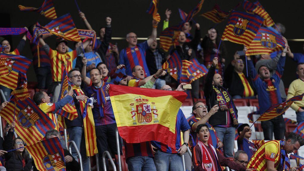 División en la final de la Copa del Rey: los culés pitan el himno y los sevillistas contestan con cánticos