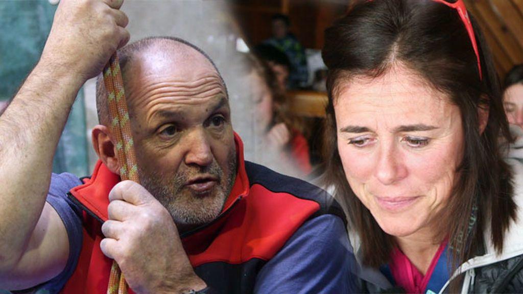 """Edurne Pasaban y Juanito Oirzabal recuerdan su enfrentamiento: """"Se nos fue de las manos a los dos"""""""
