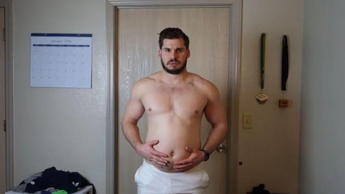Un chico deja alucinados a sus seguidores tras perder 19 kilos en 12 semanas